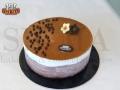 Chocolate Vanilla Gelato Cake