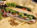 Lountza & Haloumi & Salad in baguette