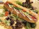 Salami special on corn_baguette