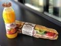 COMBO! Fresh Orange Juice with Smoked Salami Sandwich